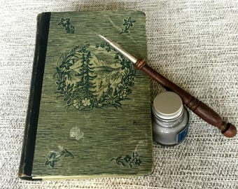 Vintage German Book Upcycled into Blank Book, Notebook, Journal, Writing Journal