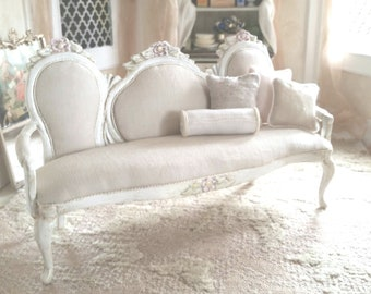 Shabby Chic 1:12 scale Sofa