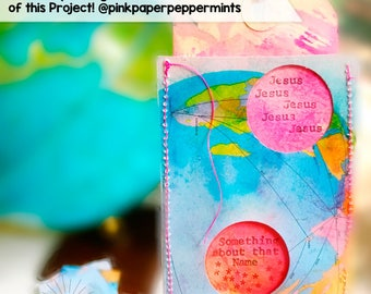Printable bible journaling cards on vintage maps - for scrapbooking, planners, traveler's notebooks & faith art journaling with scripture