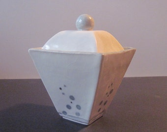 Modern Porcelain Box Container Handbuilt