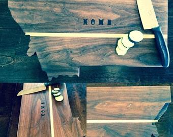 State shaped cutting board.