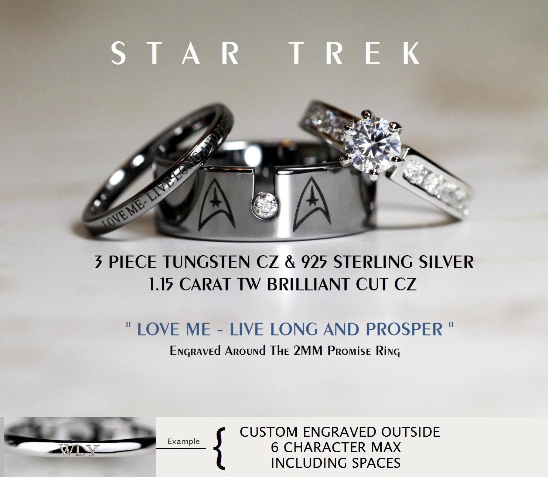 zoom - Star Trek Wedding Ring