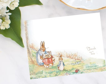 Personalized, stationery,Peter Rabbit Thank You Note Cards