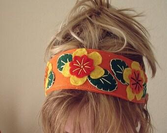 Wide Felt Headband