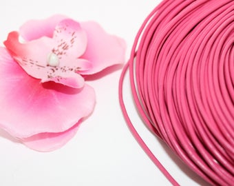 5 meters of 2mm - creating jewelry pink leather cord