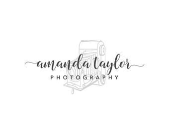Premade photography Logo Design, Photography Watermark,  Vintage Camera Logo 008
