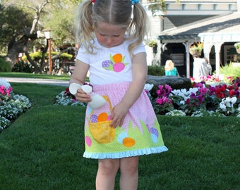 Easter dress toddler girls pdf pattern plush BUNNY SKIRT