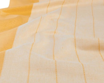 Linen Toweling By The Yard | Linen Fabric | Cotton Linen | Cotton Fabric | Linen Cotton Fabric | Cotton Blend Fabric | Yellow Fabric | Flax