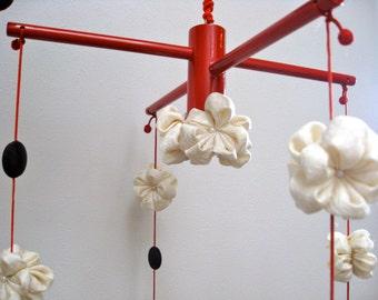 Japanese Wall  Hanging ,Japanese Traditional Mobile, Silk  Kimono fabric