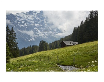 Swiss Alps - Mountain Hut - Alpine Meadows - Switzerland - Color Photo Print - Fine Art Photography (SW09)