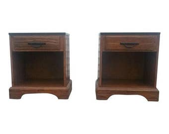 A Brandt. Ranch Oak Nightstands Mid Century (SHIPPING NOT INCLUDED)