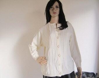 Vintage wool cardigan Knit jacket Aspa Germany S/meter