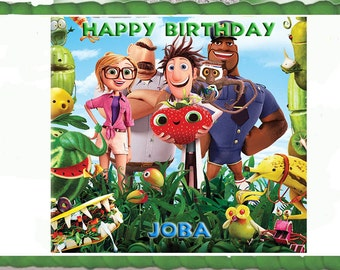 Cloudy with a Chance of Meatballs Cake Topper with FREE Personalization