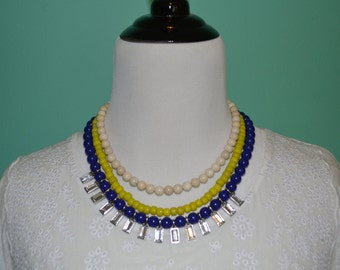 Multi colored layered necklace