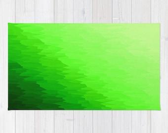 Area Rug, Green Rug, Green Texture Ombre Rug, Green Decorative Rug, Woven Area Rug, 2x3 Rug, 3x5 Rug, 4x6 Rug, Green Area Rug, Green Rug