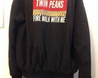 Twin Peaks Fire Walk With Me Crew Jacket MEDIUM SIZE UNIQUE David Lynch
