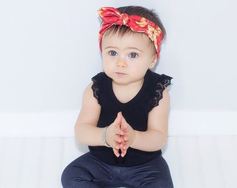 Baby Pizza Headband - Baby Head Band - Toddler Headband - Headband for Newborn - Girl's Headband - Knotted - Pizza Headband