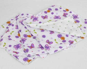 Purple Butterfly Washable Reusable Baby Nappy Diaper Wipes