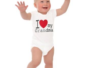 Baby onesie I love my Grandma