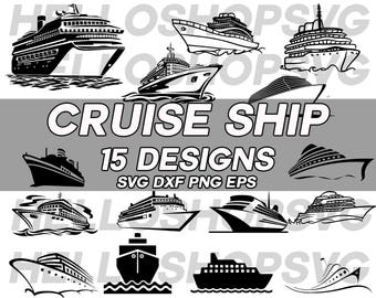 cruise svg, cruise ship, ship svg, holiday svg, clipart, decal, stencil, vinyl, eps, dxf, png, cut file, iron on, silhouette