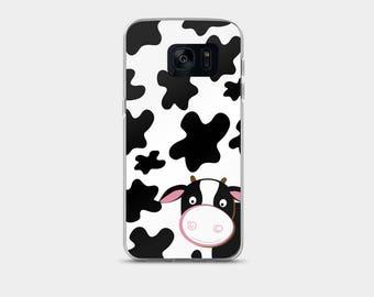 Cute Black and White Cow Print Samsung Galaxy 7 or Samsung Galaxy 8 Case Snap Case