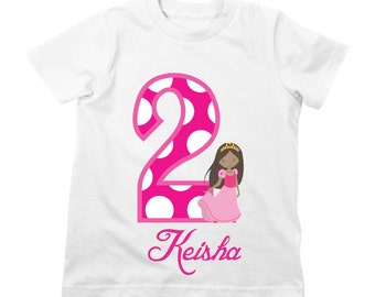 Princess Birthday Shirt or Bodysuit - Personalized Birthday Shirt