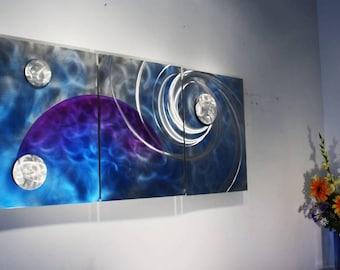 Wilmos Kovacs Original Art Metal Wall Sculpture Abstract Decor Painting - W207