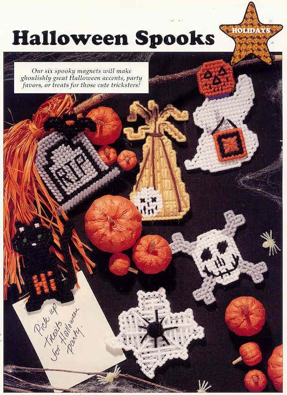 It is a graphic of Peaceful Free Printable Halloween Plastic Canvas Patterns