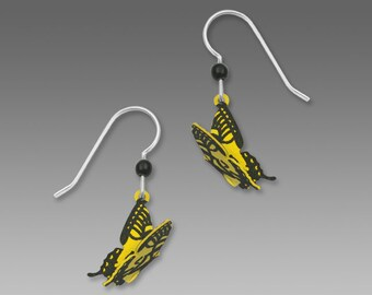 Tiger Swallowtail Butterfly Drop Earrings