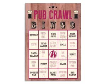 Pub Crawl Bingo: 6-Card Digital Files (PINK)