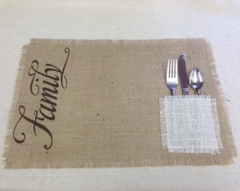 """Burlap Placemats 12"""" x 18"""" - set of 6 Home decor Holiday decorating Thanksgiving Christmas placemats"""