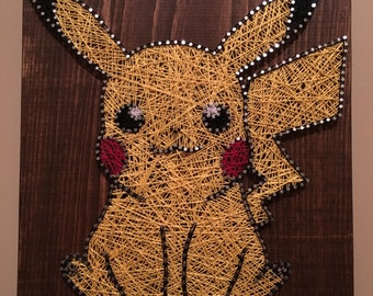 Pikachu Inspired String Art
