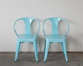 Custom Painted Tolix Style Arm Chair Color of your Choice