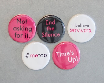 Time's Up, #metoo, End The Silence, Not Asking For It: Women's Rights, Feminism, Pink, Women's March, Female - Supports Planned Parenthood