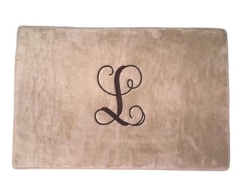 Personalized Bath Mat Bath Rug Bathroom Mat Monogrammed Monogram Memory Foam Mat