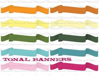 Digital Ribbon Clip Art  ribbon digital frame flag scrapbooking banner ribbon clip art journal clipart : e0127 3s19