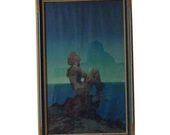 "Maxfield Parrish Framed Original Lithograph ""Stars"", 1920's"