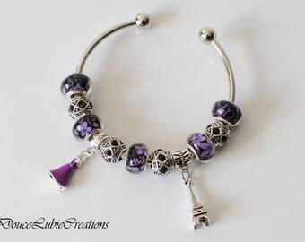 Bracelet à breloques thème « Paris »