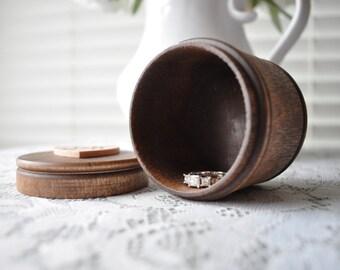 Personalized Ring Box, Wedding Ring Box, Wood Ring Box, Wood Proposal Box, Engraved Ring Box, Wood Burned, Round Ring Box, Ring Bearer Box