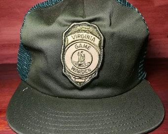 Vintage Virginia Game Warden snapback trucker hat