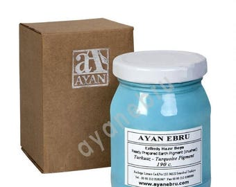 Ebru Marbling Paint Colors-Pigment Turquoise (Ayan)