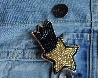 Comet Pin Brooch