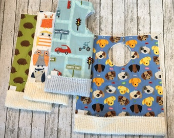 First Birthday Gift - Unique Baby Boy Gift - Choose 4 Toddler Bibs - 1st Birthday Outfit - Pocket Bibs - Best Selling Items - Baby Apron Bib