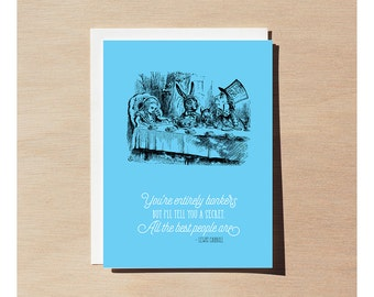 Greeting Card - Alice In Wonderland - Entirely Bonkers