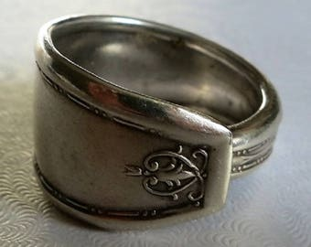 A Sterling Silver Spoon RIng in a Size 8