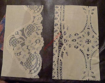 veal leather printed lace