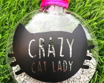 Crazy cat lady ornament