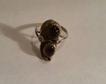 Sterling Native American Amethyst Ring