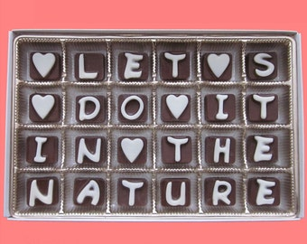 Sexy Gift for Girlfriend Gift for Woman Gift Romantic Boyfriend Gift Funny Naughty Mature Gift Idea Cute Let's Do It In The Nature Chocolate