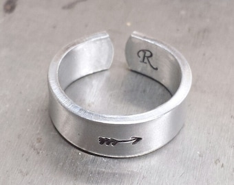 Arrow Ring, Silver Arrow Ring, Arrow Jewelry, Custom Ring, Personalized Ring, Engraved Ring, Girlfriend Gift, Gift for Her